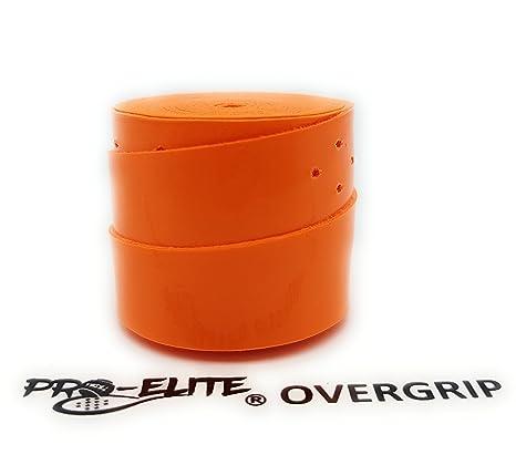overgrip Pro Elite Confort Liso Naranja Flúor: Amazon.es: Deportes ...