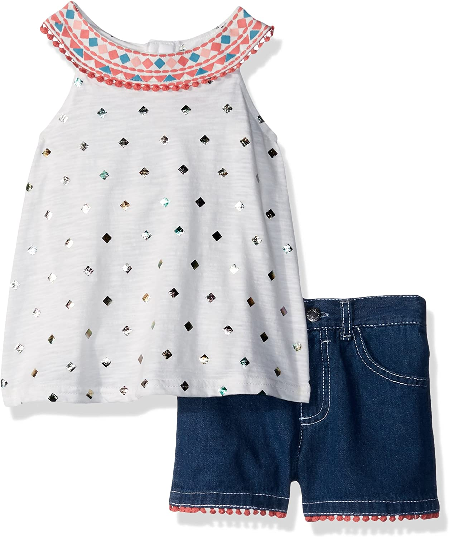 Nannette Baby Girls 2 Piece Fashion Denim Short Set