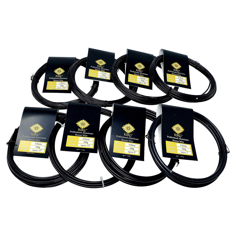 Kiku Aluminum Bonsai Training Wire Set (Full Kit - 8 Sizes)