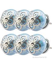 Perillas Tiradores de Muebles conjunto surtido No.70 6 piezas turquesa azul Multicolor Perilla de