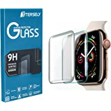 TERSELY Full Cover Screen Protector for Apple Watch 4,[2 Pack] Full Adhensive Sensitive Tempered Glass Full Coverage Screen Protector Film Guard for Apple Watch iWatch Series 4 (44mm, Transparent)