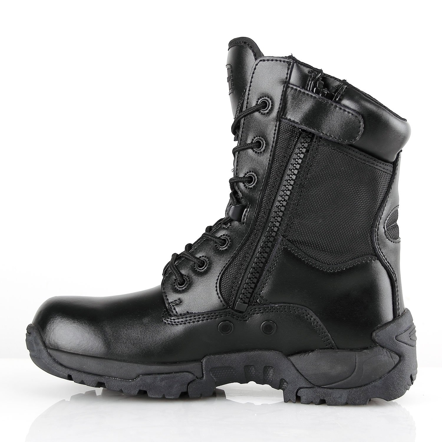 BURGAN 871 TAC Force 8 inch Tactical Zipper Boot B07BTB3NY6 / 46 (US Mens 12 / B07BTB3NY6 Ladies 13)|Black a8728c