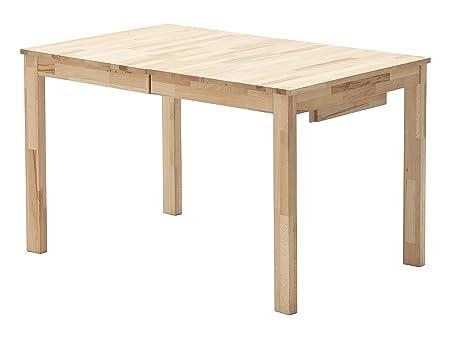 Robas Lund, Tisch, Esszimmertisch, Fabian, Buche/Massivholz, 125x 80x 76cm, FAB125BU