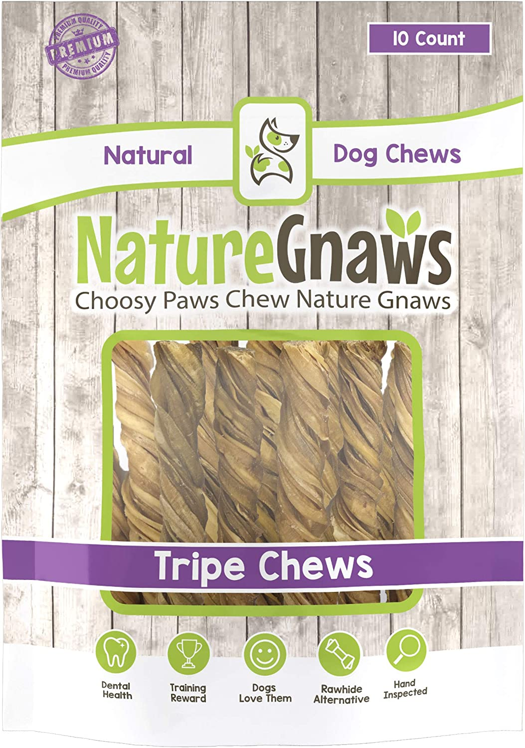 Nature Gnaws Tripe Twists – 100 Natural Beef Dog Chew Treats