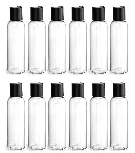 2067ed7c40fe Amazon.com: Clear PET Plastic Bottle - Cosmo 240 ml (8 oz) - 24/410 ...