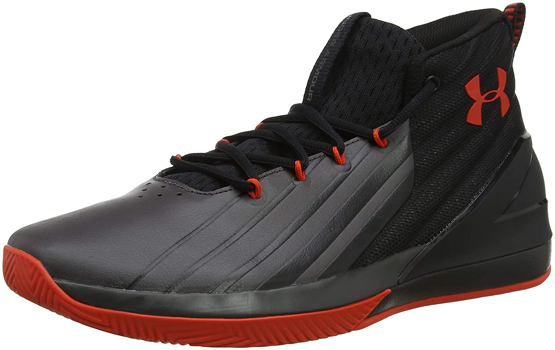 Under Armour UA Lockdown 3, Chaussures de Basketball Homme 47.5 47.5 Homme EU|Noir (Black/Charcoal/Radio Red) 96b9ae