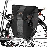 Ibera(イベラ)PakRak 自転車 パニアバッグ サイドバッグ 着脱容易クリップ式 レインカバー付き