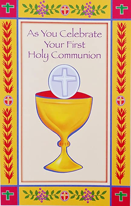 Amazon as you celebrate your first holy communion greeting as you celebrate your first holy communion greeting card may the love of our savior m4hsunfo