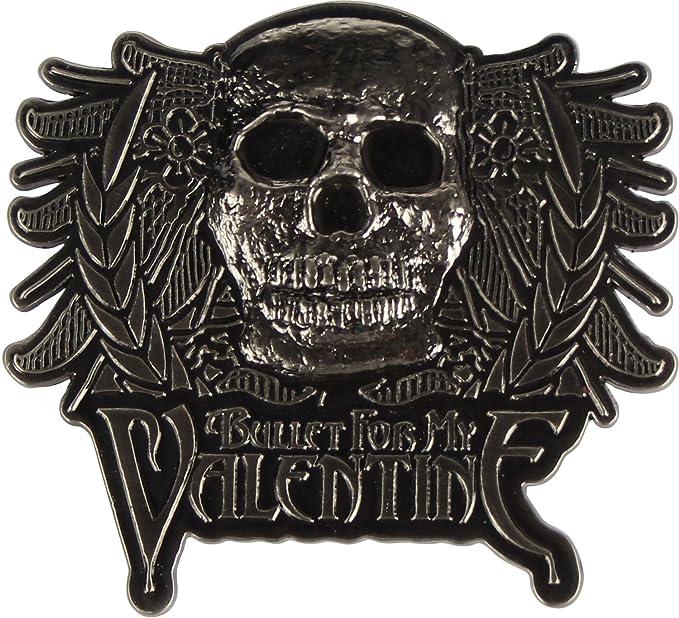 Bullet For My Valentine Skull Crest Baseball Hat In Grey Black