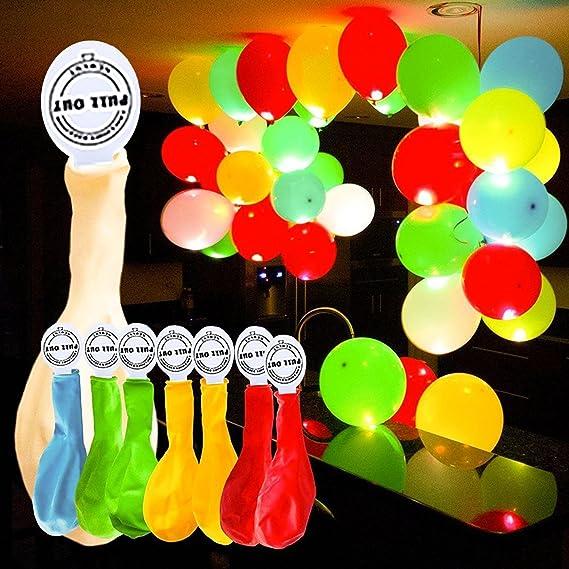 50 Globos LED de colores para fiesta de navidad.