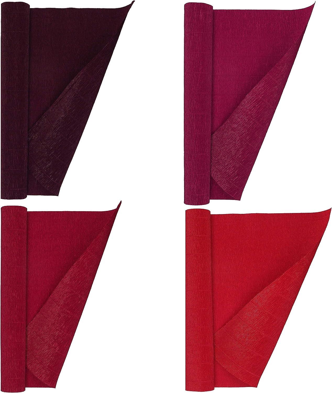 Crepe Paper Premium Juego De 4 Rollos De Papel Crepé Italiano 6 35 Oz Juego De Vinos Rojos Arte Manualidades Y Costura