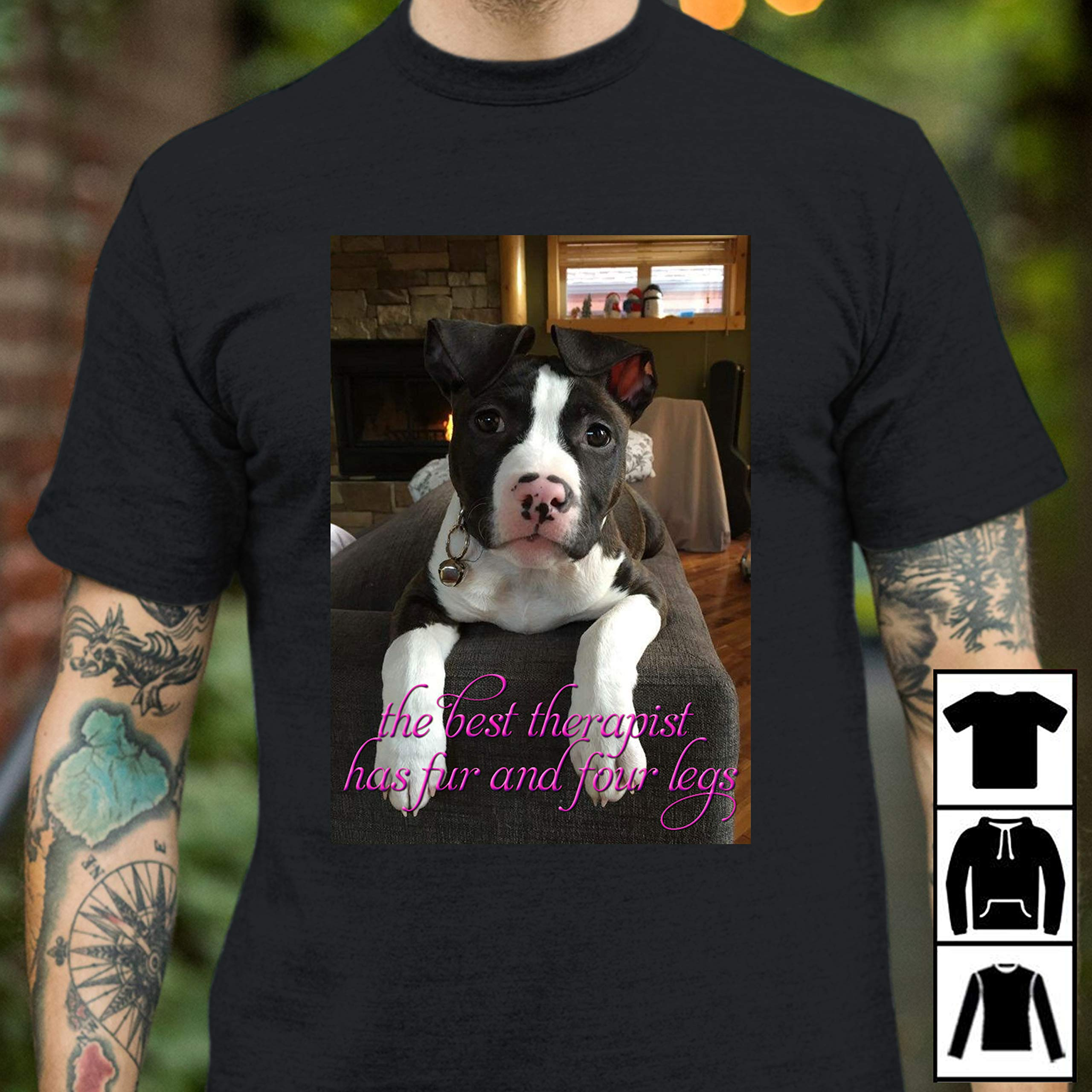 The Best Therapist Has Fur And Four Legs Dog Tshirt Long Tshirt