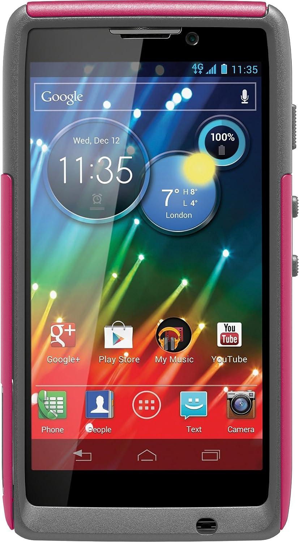 OtterBox Commuter Series Case for Motorola RAZR HD - Retail Packaging - Pink/Gray