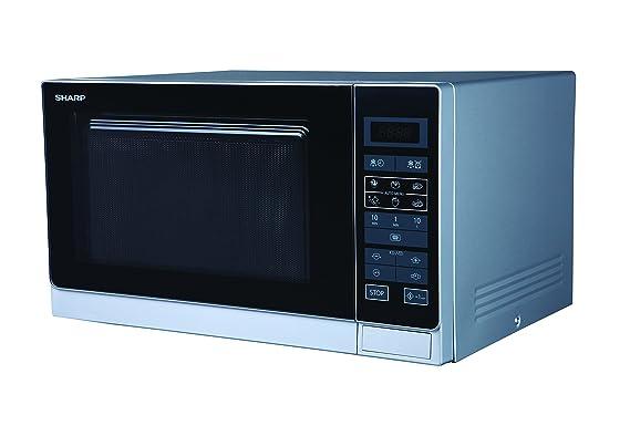 Sharp R-342(IN) W Microondas 25L, Control Tactíl, 900W, 900 W, 25 litros, Plata
