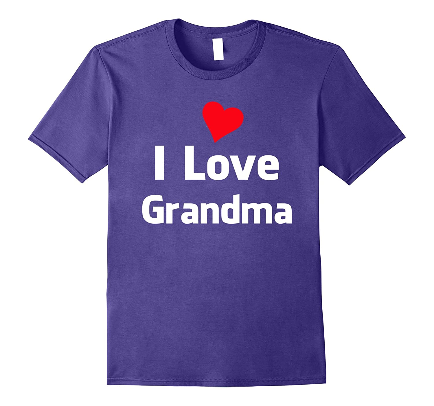 Cute I LOVE GRANDMA t-shirt gift idea for kids to wear-Vaci