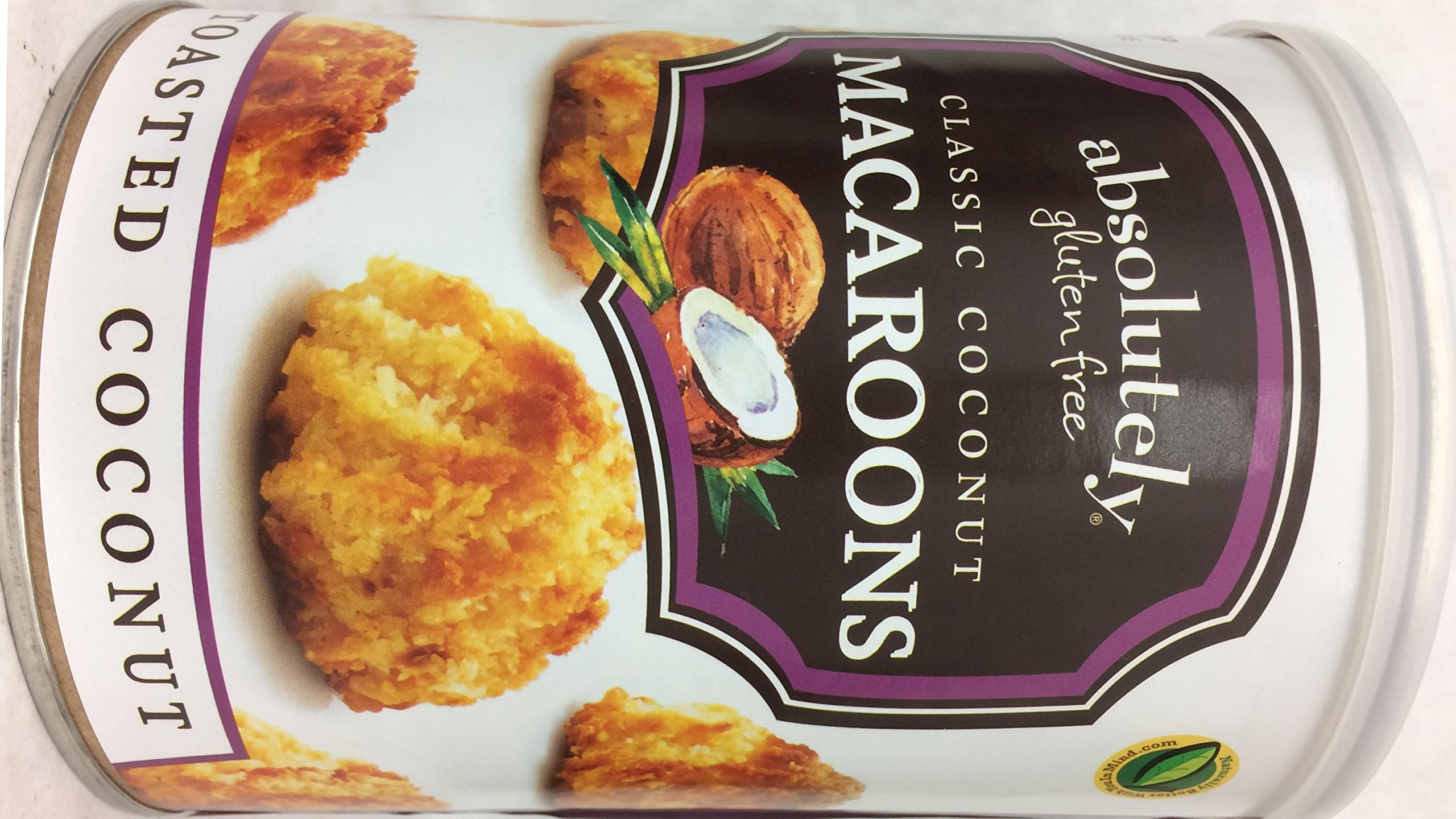 Absolutely Gluten Free Classic Toasted Coconut Macaroons Kosher For Passover 10 oz. (Pack of 8)