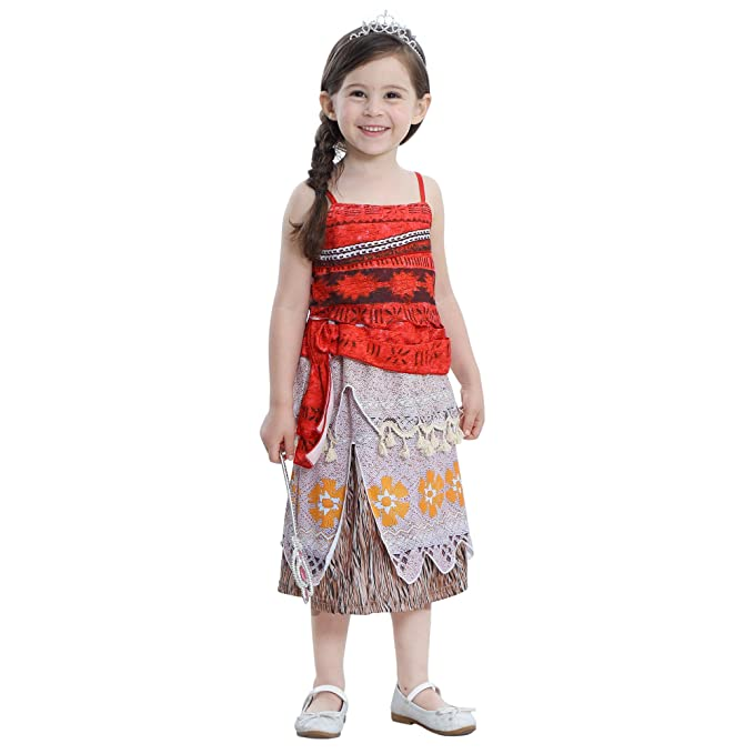 43a36b60fa Amazon.com: Princess Dress Little Girls Lace Sleeveless Halloween Costume  Cosplay Outfit: Clothing
