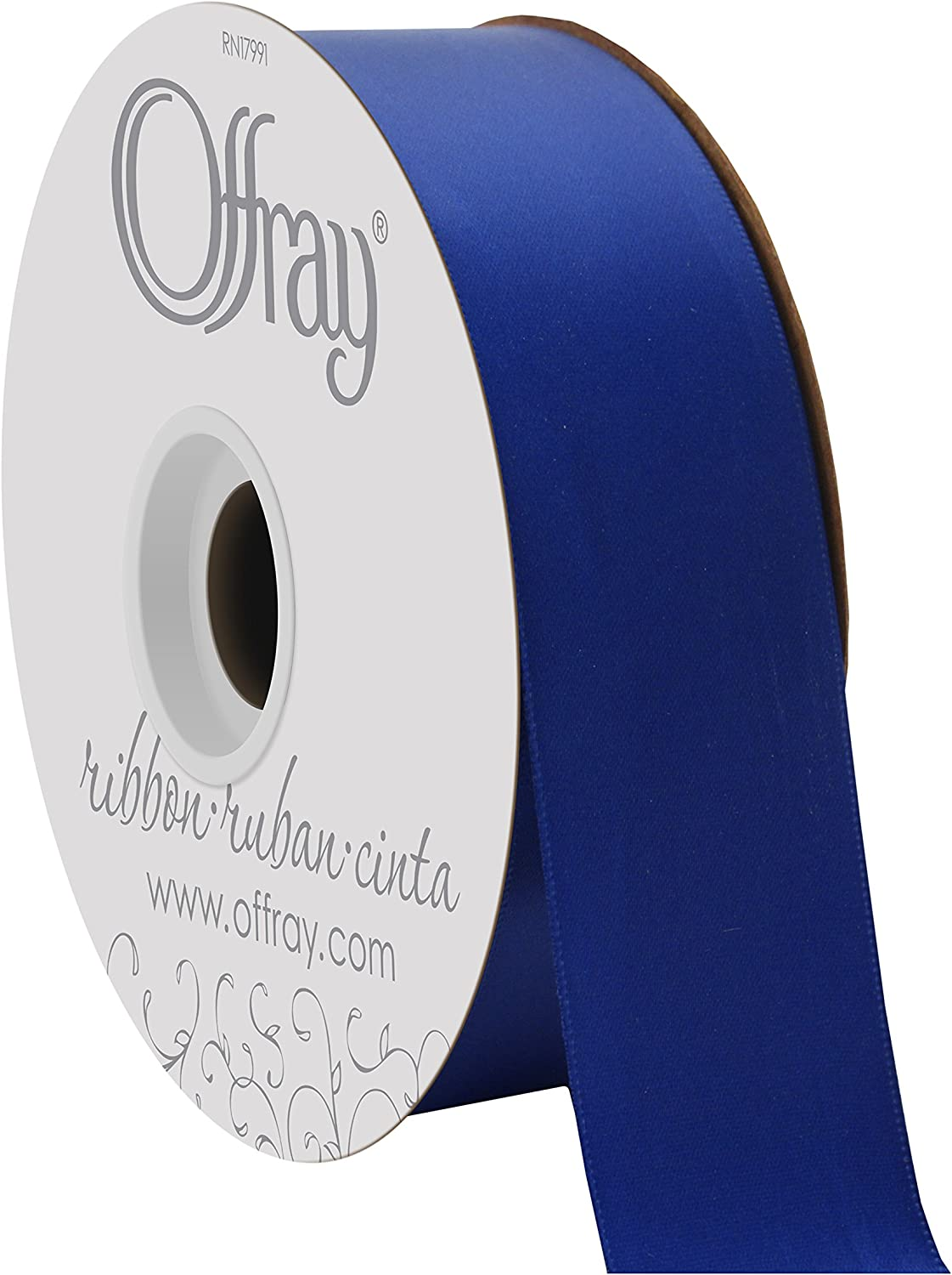 Offray Double Face Satin Craft Ribbon Light Blue 1-1//2-Inch Wide by 10-Yard Spool
