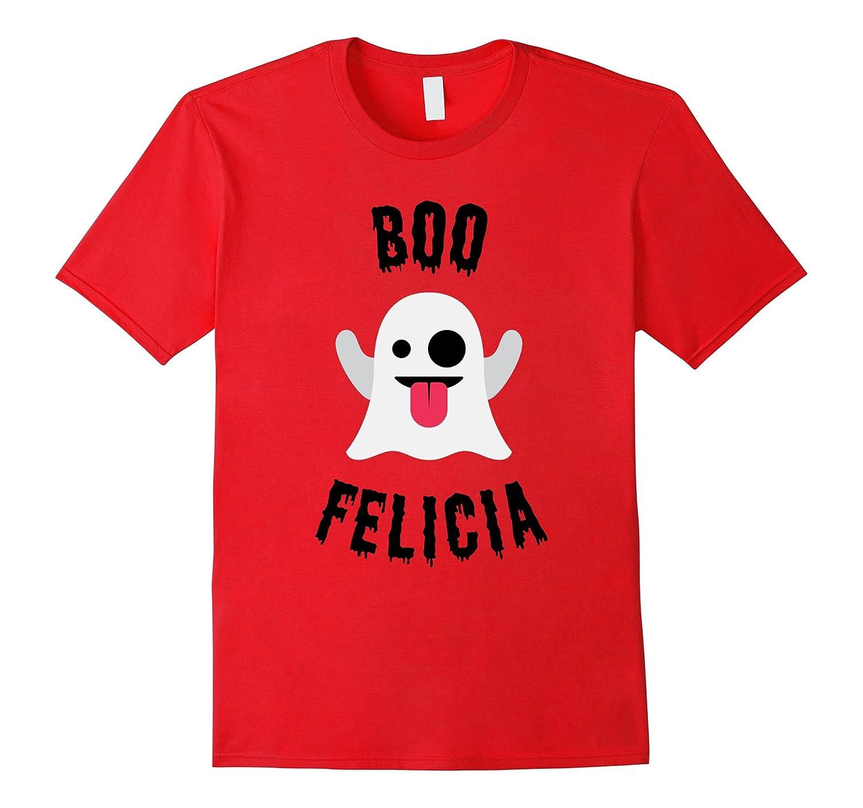 Boo Felicia Ghost Emoji Halloween T Shirt Costume-FL
