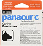 Panacur C Canine Dewormer, Net Wt. 12 grams, Package Contents Three, 4 gram packets