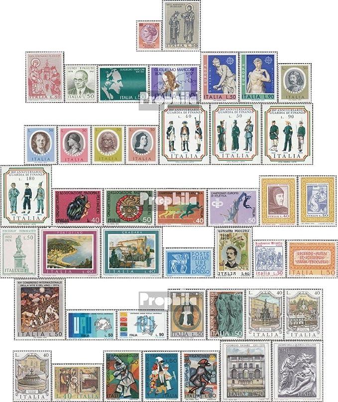 Prophila Collection Italia Michel.-No..: 1434-1477 UPU Puccini Completa Edizione Vino u.Un. Volume 1974 completaett 1974 Italia Francobolli per i Collezionisti