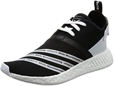 87b81041d adidas Originals WM White Mountaineering NMD R2 PK Primeknit Mens Sneakers- Black-6.5