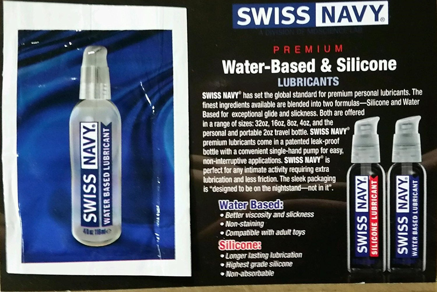 Bundle Package Of Dickalicious Penis Gel 2cc. (DP/144) AND Swiss Navy Water Based Lubricant 5ml Foil by Hott Products Unlimited