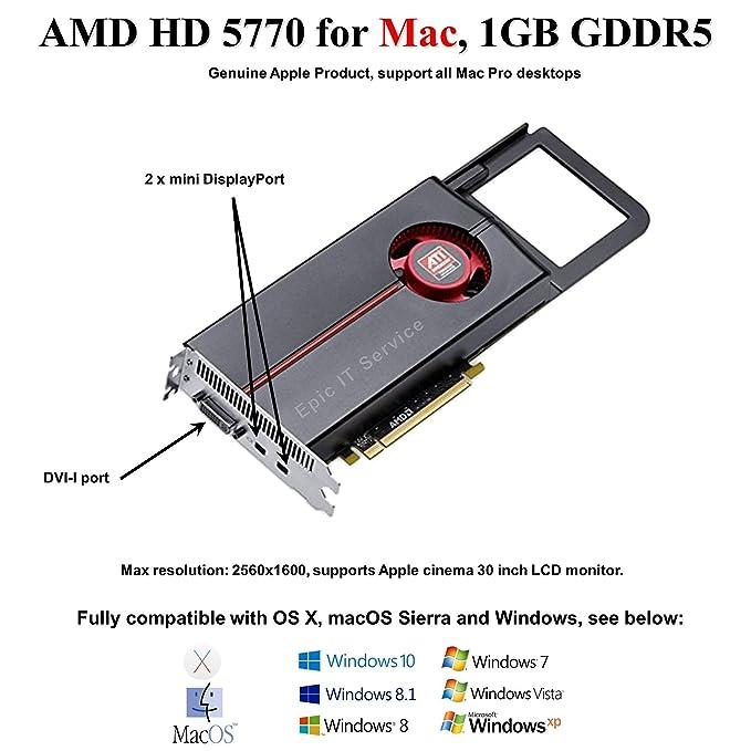 Amazon.com: AMD Radeon HD 5770 1 GB Tarjeta de vídeo para ...