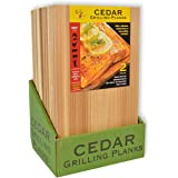 TrueFire Gourmet Premium Cedar Grilling Planks 7 x 16 inch (24-Pack) – Add a Delicious, Smoky Flavor to Your Grilling Favorit
