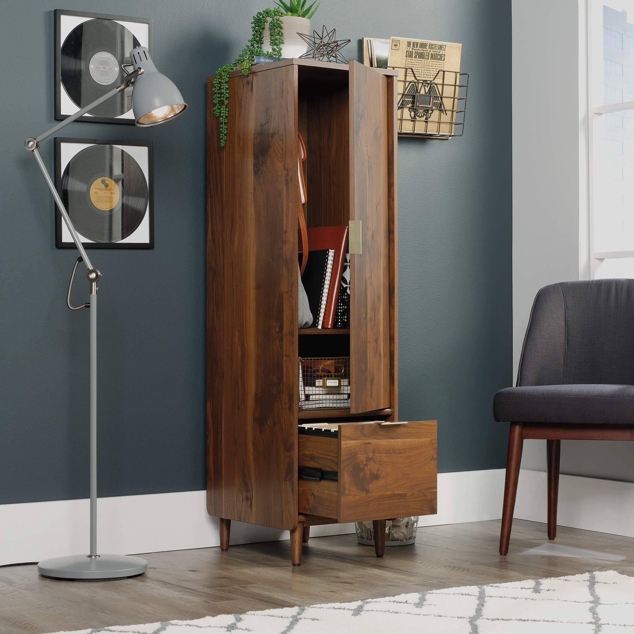 Sauder 421318 Clifford Place Storage Cabinet with File, L: 15.51'' x W: 18.50'' x H: 58.27'', Grand Walnut Finish by Sauder (Image #5)