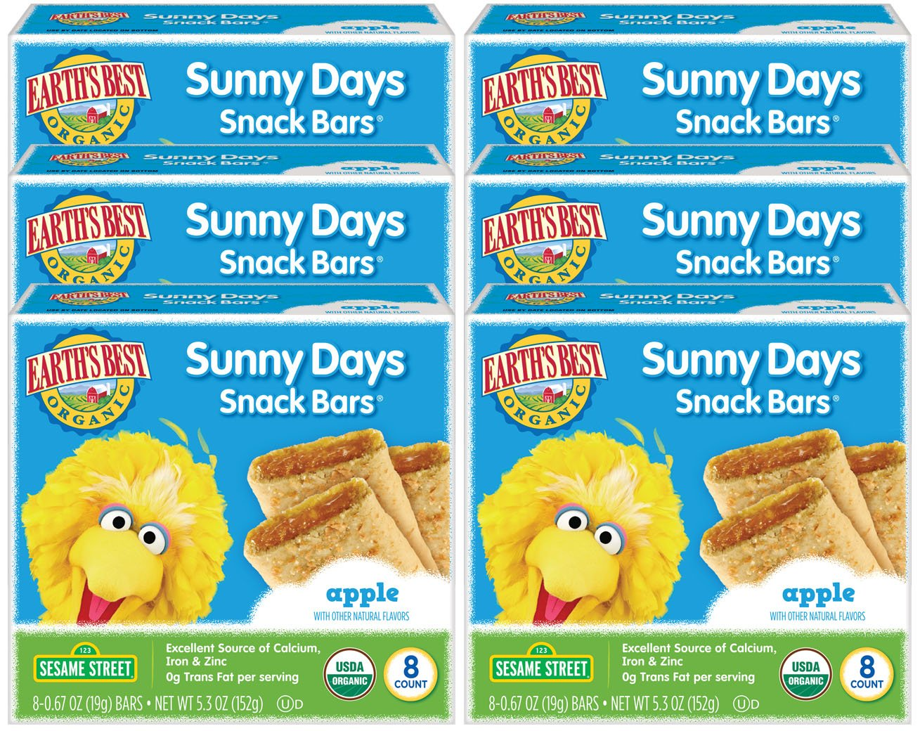 Earth's Best Organic Sunny Day Toddler Snack Bars with Cereal Crust, Made With Real Apples - 8 Count (Pack of 6) by Earth's Best (Image #7)