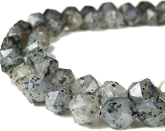Natural Round Gray Dot Pitaya Quartz Crystal Stone Jewelry Making Beads 15/'/'