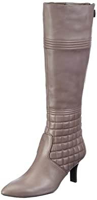 Buy Cheap Official Site Womens Lianna Quilted Tall Boot Ankle Boots Gray Grau (Cinder) Size: 36.5 Rockport Clearance Low Shipping Fee Cheapest Price Classic Free Shipping Latest Collections ictYQPML