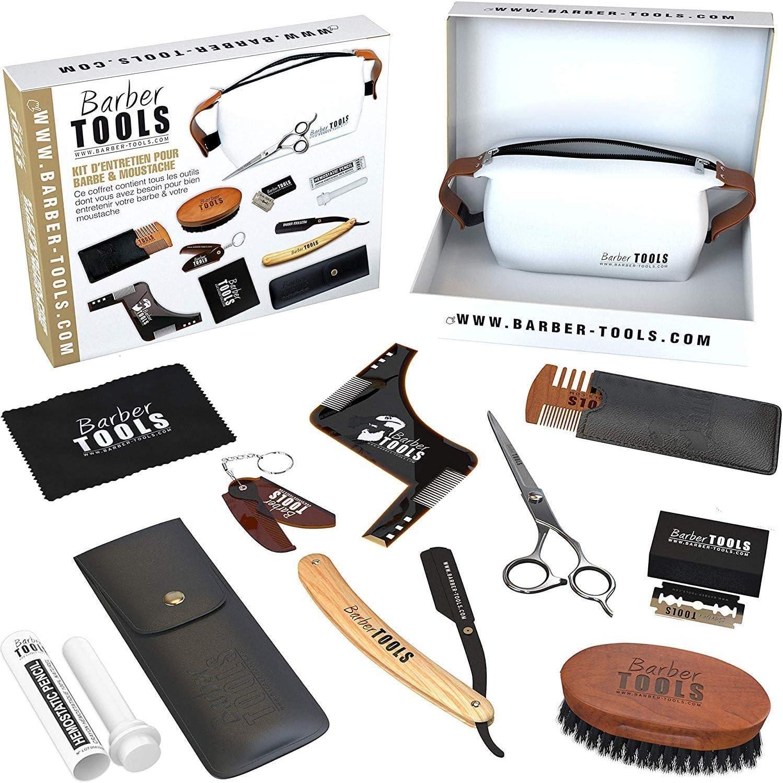 ✮ BARBER TOOLS ✮ Kit/Set/Estuche de arreglo y cuidado de la barba y afeitarse