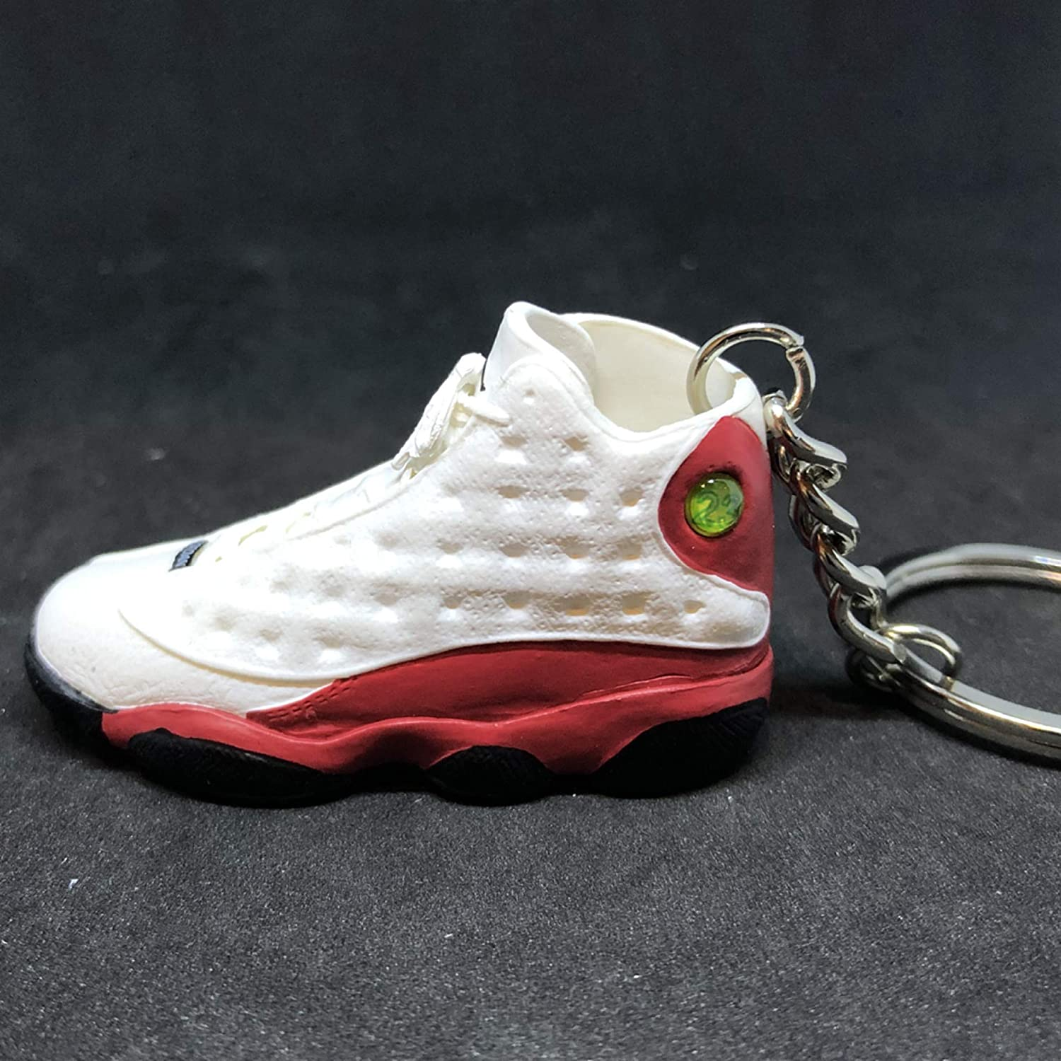 09288329806 Amazon.com : Pair Air Jordan XIII 13 Retro Cherry Red White OG Sneakers  Shoes 3D Keychain 1:6 Figure + Shoe Box : Everything Else