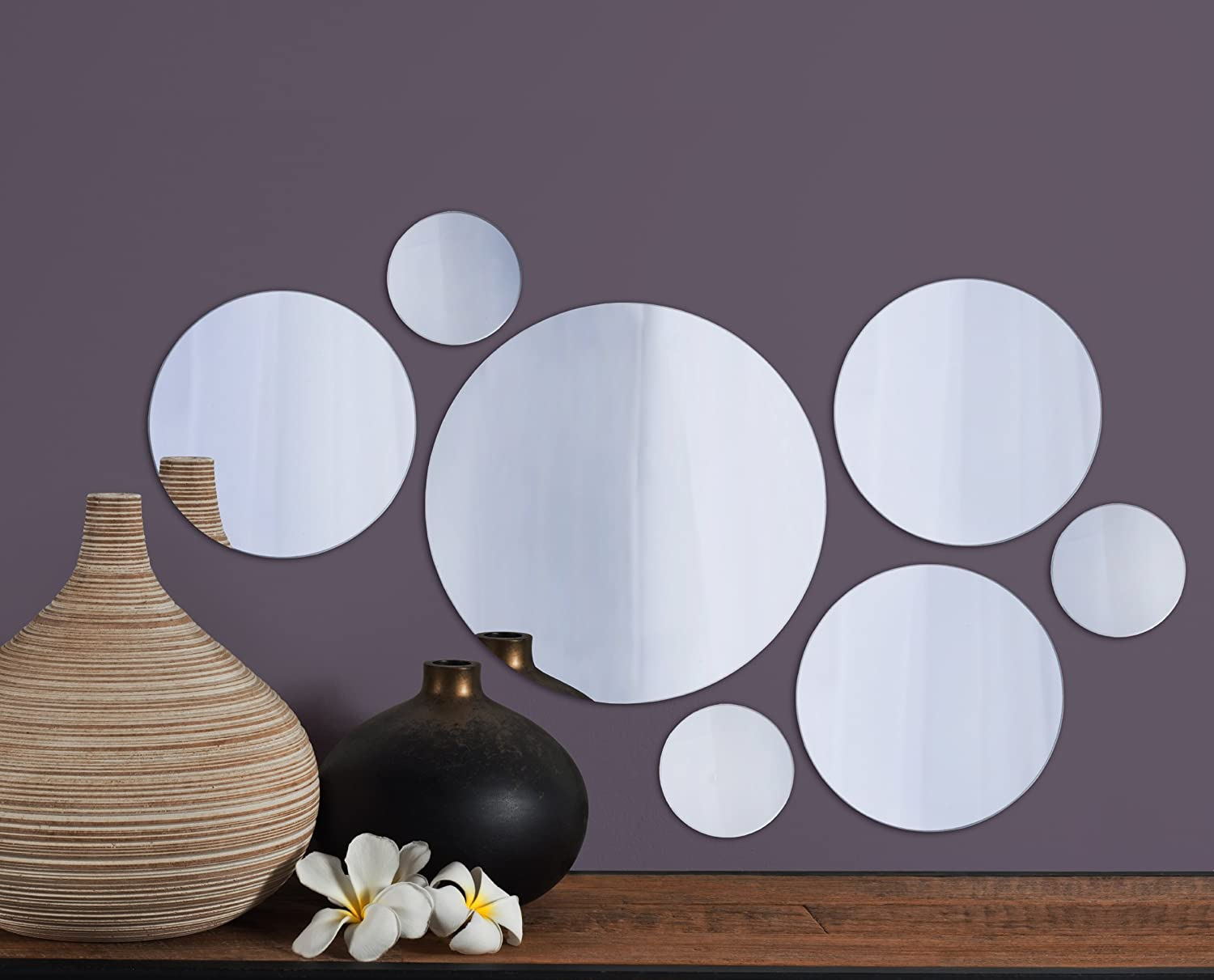 Amazon elements round wall mount mirror set of 7 assorted amazon elements round wall mount mirror set of 7 assorted sizes home kitchen amipublicfo Gallery