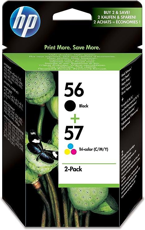 SA342AE / HP 56+57: Pack de cartuchos negro, color original HP ...