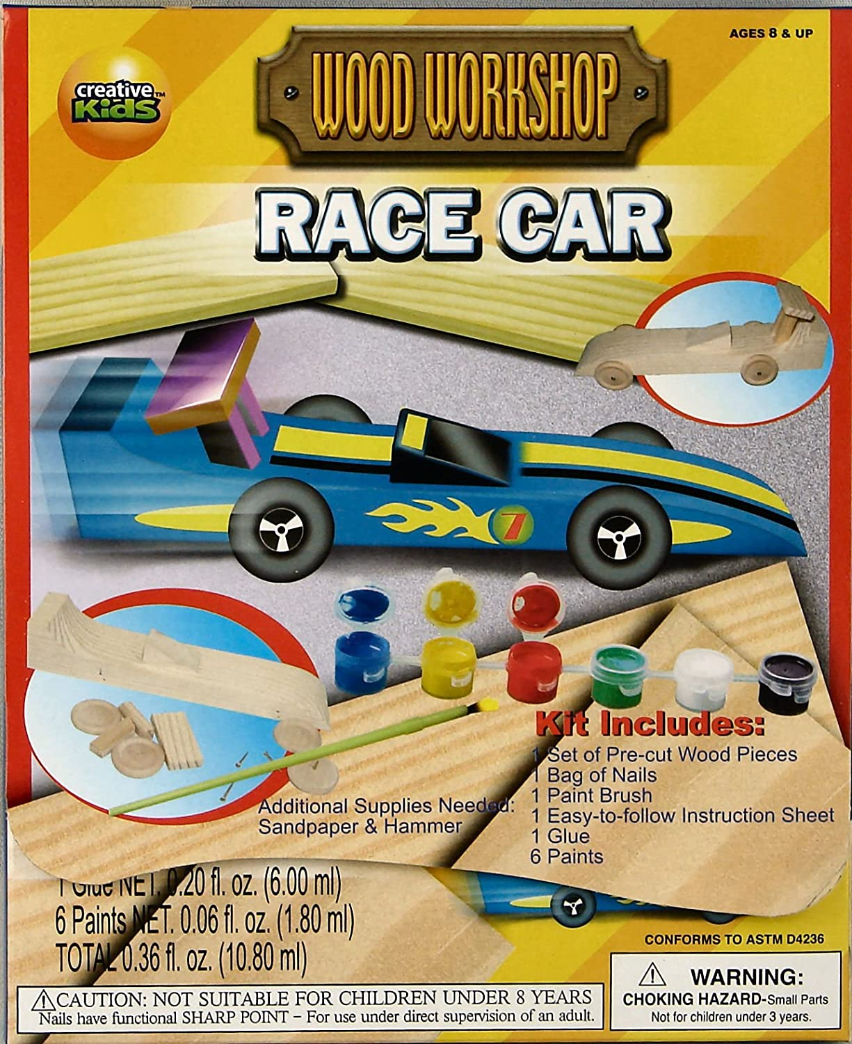 amazoncom build your own wood race car paint it and play with it toys games