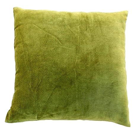 VLiving Funda de Almohada de Terciopelo Verde, algodón y ...