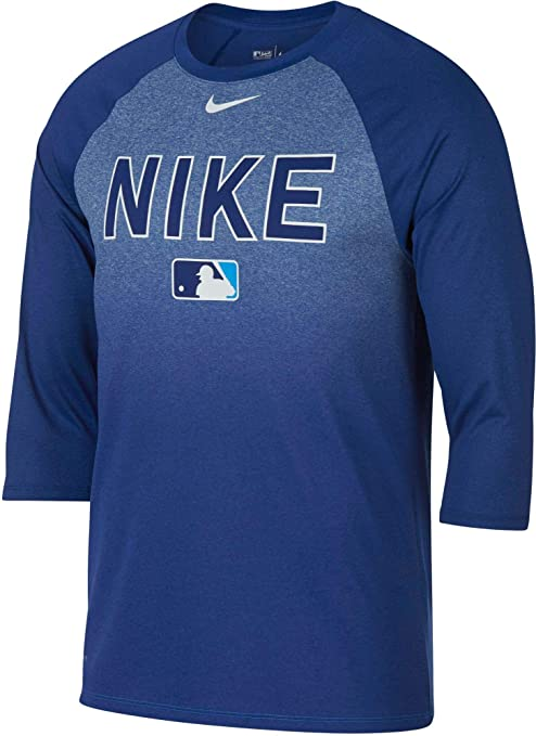 456b7cee Amazon.com: Nike Men's Legend Raglan ¾-Sleeve Baseball Shirt (Royal ...
