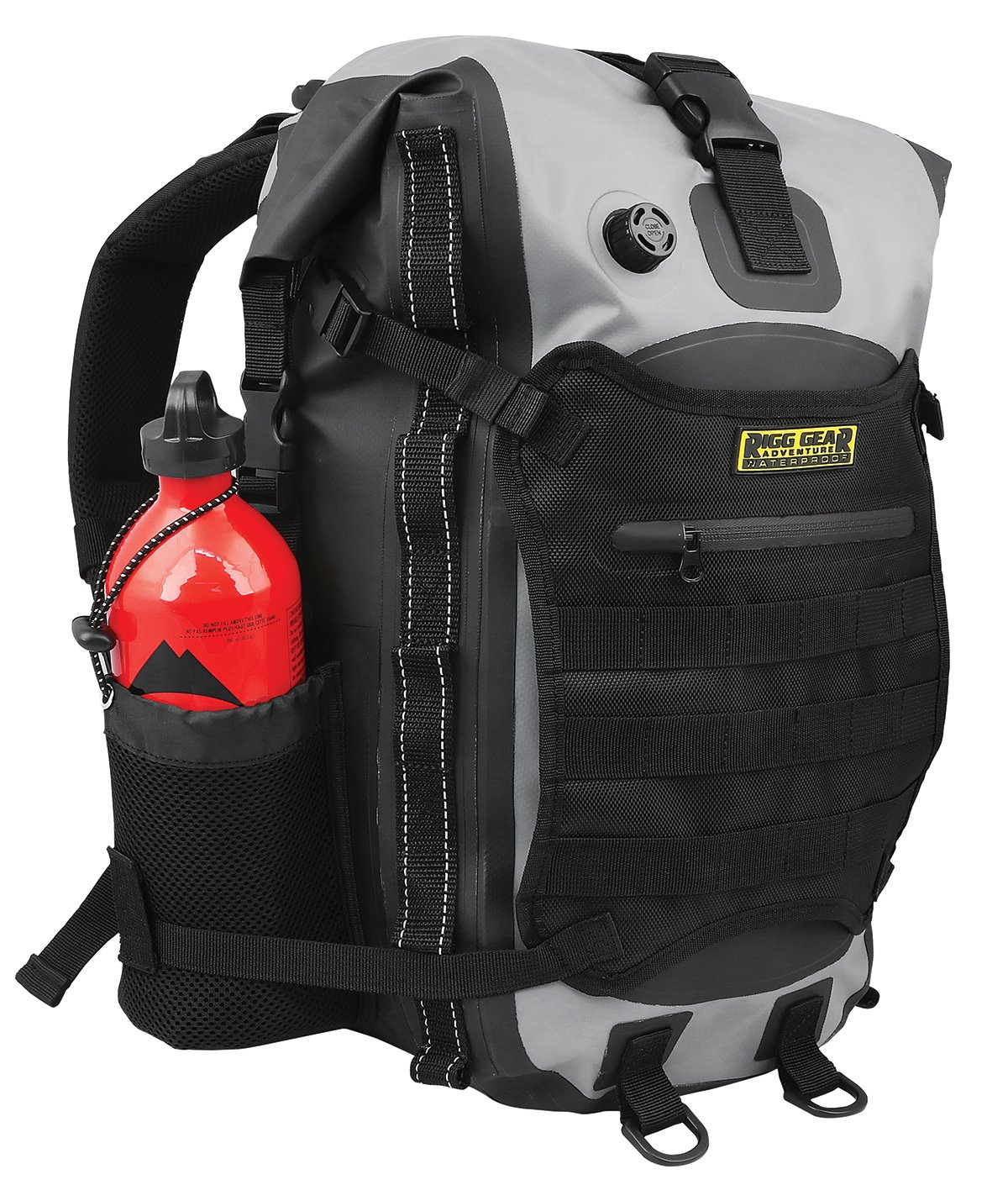 Nelson-Rigg SE-3020 Hurricane Waterproof Backpack 20 Liters Can Mount to Motorcycle, Boat, or Snowmobile. Padded Straps, Reflective Webbing, and Inner Laptop Sleeve and Bottle Holders Nelson Rigg
