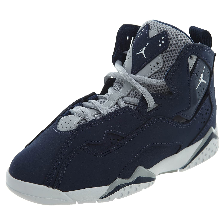 3d86139ae72d Amazon.com  NIKE Kid s Air Jordan True Flight BP Navy White Grey Pre School  343796-404 (11.5)  Shoes