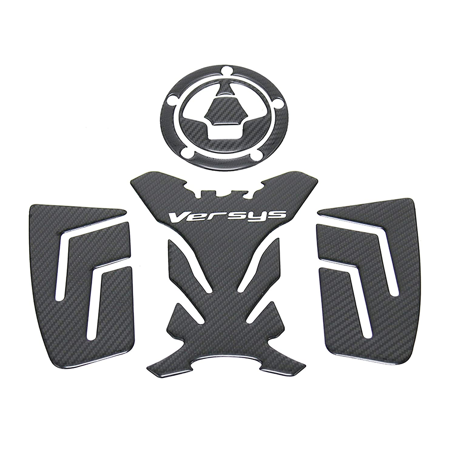 Motorcycle 3D Emblem Fuel Tank Traction Side Pad Knee Grip Decal Protective Stickers For Kawasai versys 650