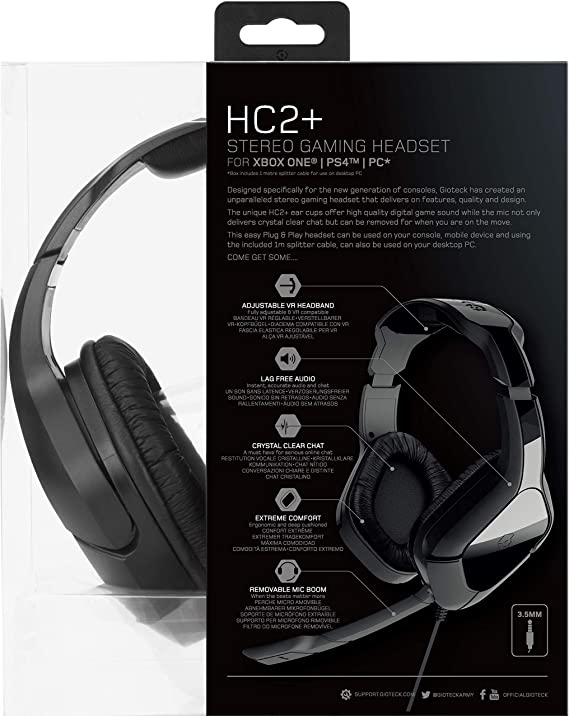 Gioteck HC2+ Wired Stereo Headset (PS4