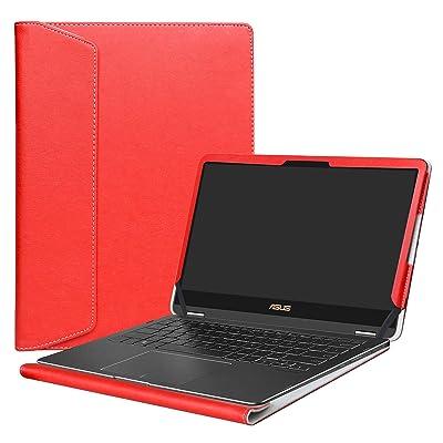 "Alapmk Protective Case Cover For 13.3"" Asus Q325UA/Zenbook Flip S UX370UA Laptop,Red"