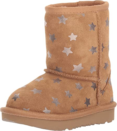 UGG Kids T Classic Short II Stars Pull on Boot