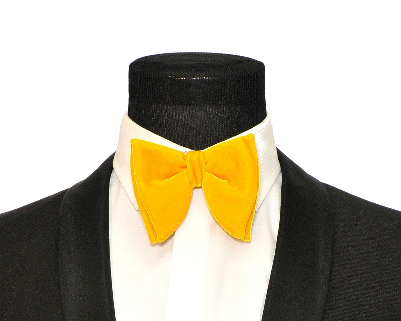 Mens FERUCCI Oversized Bow Tie Mens big bow tie Tuxedo Gold Velvet Bowtie