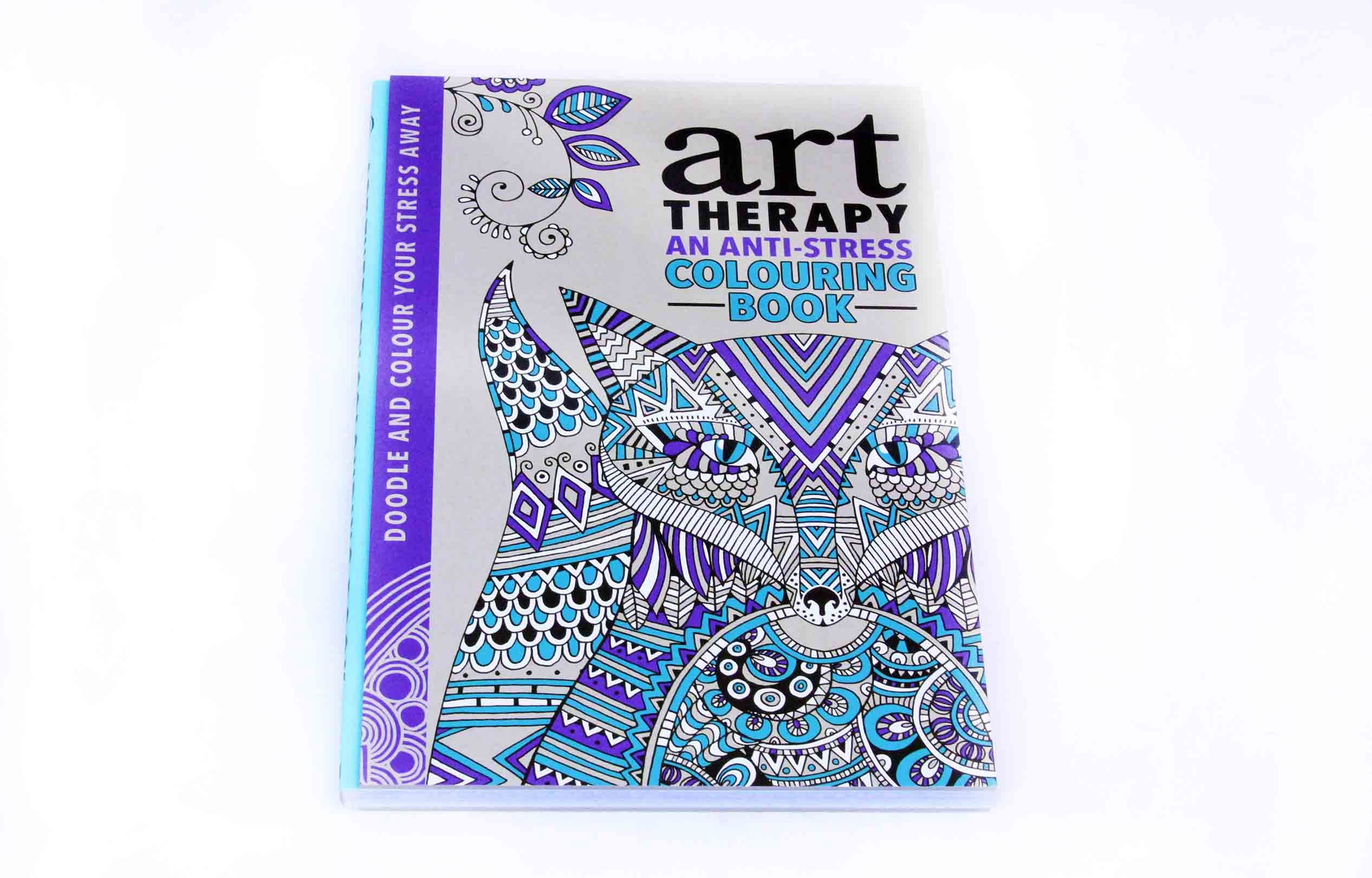 Art color therapy - Art Colour Creative And Calming An Anti Stress Therapy Adult Colouring 4 Books Collection Set Doodle And Colour Yours Stress Away Hannah Davies