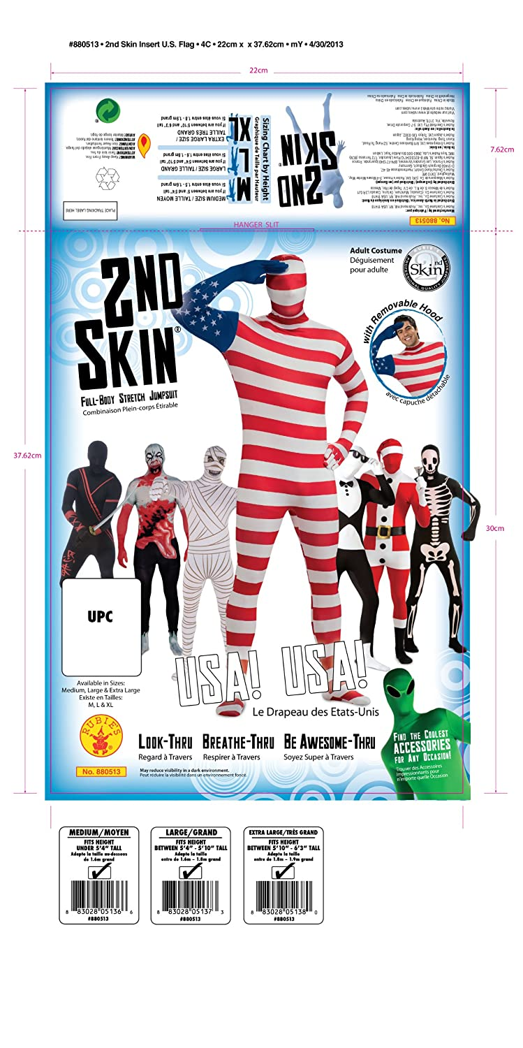 90cfd70d8664 Amazon.com  USA Flag Skin Suit Costume for Adults  Clothing