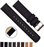 BARTON Quick Release - Top Grain Leather Watch Band - Choice of Color & Width (18mm, 20mm or 22mm)